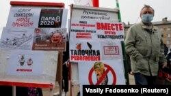 Під час мітингу в Мінську на підтримку опозиційних політиків на виборах президента Білорусі. Мінськ, 24 травня 2020 року