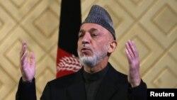 Ауғанстан президенті Хамид Карзай. Кабул, 9 мамыр 2013 жыл.