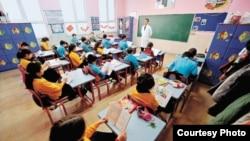 Թուրքական դպրոցի դասարանում` պարապմունքի ժամանակ