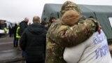 Во время обмена пленными, КПВВ Майорск, 29 декабря 2019 года
