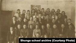 Ученики школы в Шуньге, 1937 год