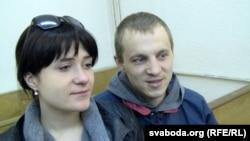 Наста і Зьміцер Дашкевічы ў судзе