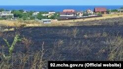 Пожар на лавандовом поле, Севастополь