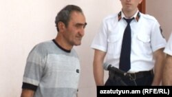 Armenia -- Serob Bozoian, the only defendant of balloon blast case, at the court room in Yerevan, 14Sep2012