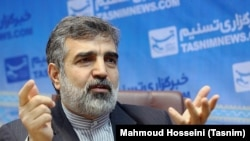 Atomic Energy Organization of Iran spokesman Behruz Kamalvandi (file photo)