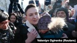 Надія Савченко після того, як Верховна Рада дала згоду на її затримання й арешт, 22 березня 2018 року