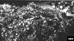 Polşa - Auschwitz-Birkenau düşərgəsində öldürülmüş əsirlərin eynəklərinin sağanaqları
