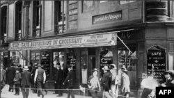 Paris, Café du Croissant, unde Jean Jaurès a fost asasinat de naționalistul Raoul Villain, 1914