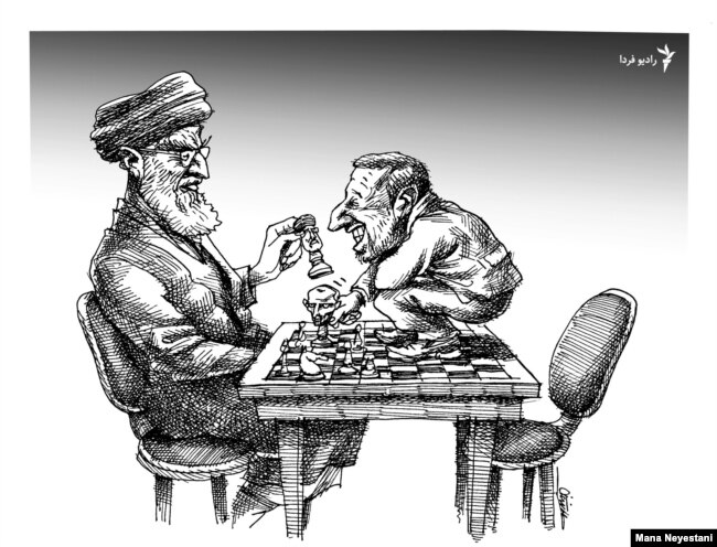A political cartoon by Mana Neystani