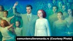 Omagiu din partea tineretului, de Sabin Bălașa. Sursa comunismulinromania.ro (MNIR)