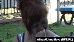 Наталья Ким, жена арестованного гражданина Николая Тё. Талдыкорган, 7 июля 2011 года.