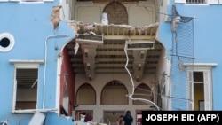Развалини на дом в Бейтут след тежката експлодзия на пристанището, която унищожи стотици постройки и уби близо 150 души