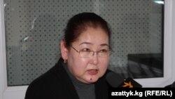 Қырғызстанның бұрынғы миграция министрі Айгүл Рысқұлова.