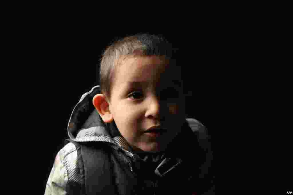 Hamou Mohammed Amer, 4, was born in Algeria. His father works as a taxi driver in Brooklyn.