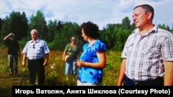 Встреча друзей детства в 2013 году. Крайний справа – Юрий Панькив.