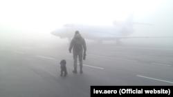 Туман у Київському міжнародному аеропорту «Жуляни», 23 жовтня 2019 року