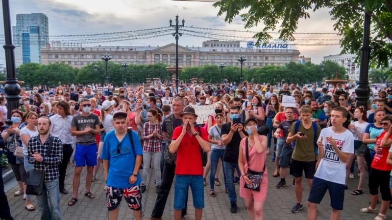 Habarowsk şäherinde ýerli ýolbaşçynyň tussag edilmegi sebäpli guralýan protestler dowam edýär
