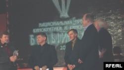 Съемочная группа фильма «Солнце», победившего в трех номинациях премии «Белый слон»