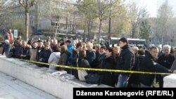 Traže isplatu zaostalih plata i uplatu doprinosa: Protest radnika Željezare Zenica u Sarajevu