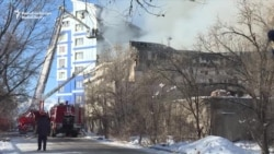 Fire Destroys Church In Bishkek