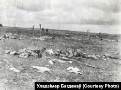Поле бою пасьля бітвы пад Паставамі, канец сакавіка 1916 году