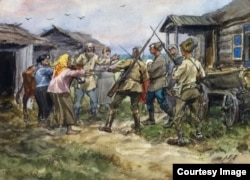 Иван Владимиров. Раскулачивание, фрагмент картины