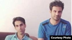 حبیب (سمت راست)، وحید (سمت چپ)، برادران نوید افکاری که ماهها است که در سلول انفرادی به سر میبرند.