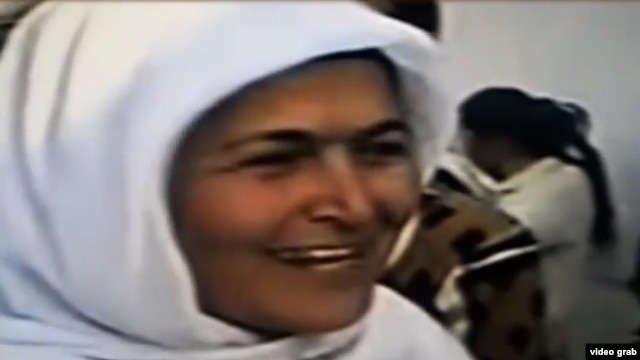 Ghalaty Barotova, a member of the Tajik Islamic Renaissance Party (undated; from video)