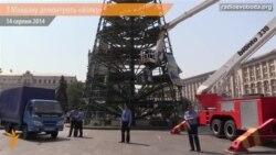 З Майдану демонтують «йолку» для майбутнього музею