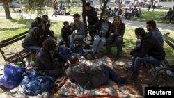 Një grup i migrantëve në Beograd - Arkiv