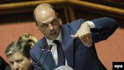 Italian Foreign Minister Angelino Alfano (file photo)