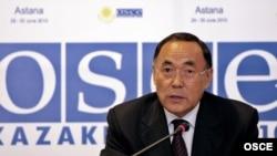 ԵԱՀԿ-ի գործող նախագահ, Ղազախստանի արտգործնախարար Կանատ Սաուդաբաեւ