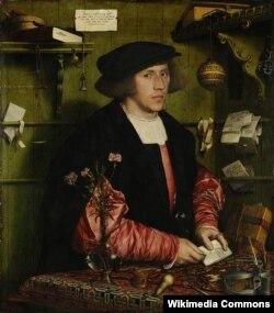 Ганс Гольбэйн (Малодшы), «Партрэт купца Георга Гізэ» (1532)