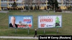 Plakat iz kampanje Miloša Zemana u Pragu