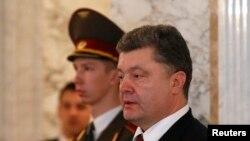 Президент Украины Петр Порошенко. Минск, 12 февраля 2015 года.