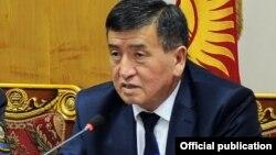 Қырғызстан премьер-министрі Сооронбай Жээнбеков.
