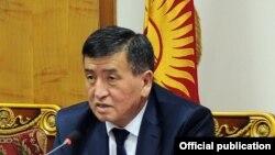 Глава кыргызского правительства Сооронбай Жээнбеков.