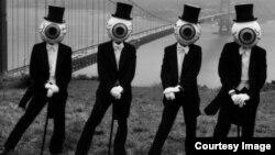 """The Residents. Фрагмент классического постера группы """"Резиденты"""""""