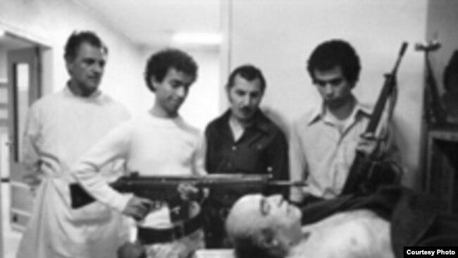 Iran -- Amir Abbas Hoveida (1919 - 1979), former Iranian Prime Minister after execution by Islamic revolution court,1979