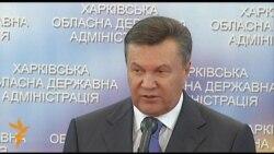 Янукович у Харкові залишив прес-конференцію після запитання кореспондента Радіо Свобода про мовний закон