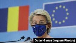 Președintele CE, Ursula von der Leyen, a anunțat, luni, 27 septembrie, la București, aprobarea PNRR. Planul care poate aduce României 29,1 miliarde de euro trebuie aprobat și de Consiliul European, în următoarele patru săptămâni.