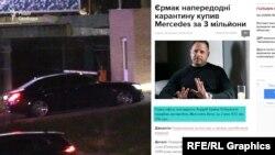 Андрій Єрмак залишає VIP-термінал на новому Mercedes S-класу вартістю майже 3 мільйони гривень