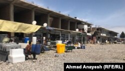 The once bustling market in Bagram earlier this month.