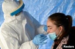 """Словакия, тестирование на коронавирус в рамках первого этапа общенациональной программы, получившей название """"Совместная ответственность"""""""