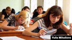 Studenţi la USM, la examen