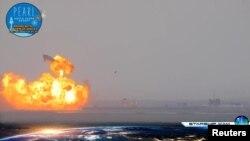 SpaceXнинг Starship ракетаси прототипи синов парвози давомида портлаб кетди.