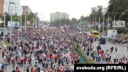 Марш пратэсту ў Менску 13 верасьня