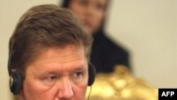 Gazprom's Aleksei Miller at the meeting in Tehran