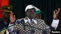 Президент Зимбабве Роберт Мугабе, 2013 год