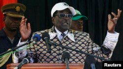Претседателот на Зимбабве Роберт Мугабе.